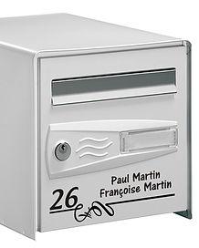 Sticker personnalisé boîte aux lettres