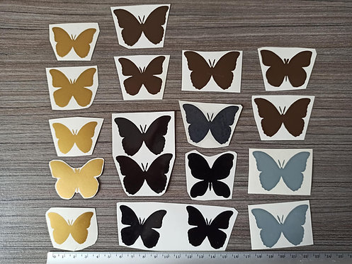 Lot 18 Stickers Papillons