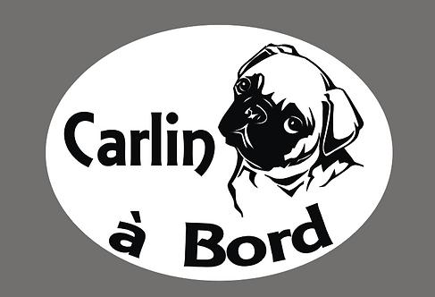 Sticker Carlin à Bord - Personnalisation possible