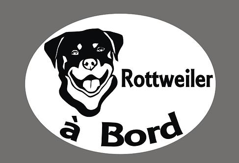 Sticker Rottweiler  à Bord - Personnalisation possible