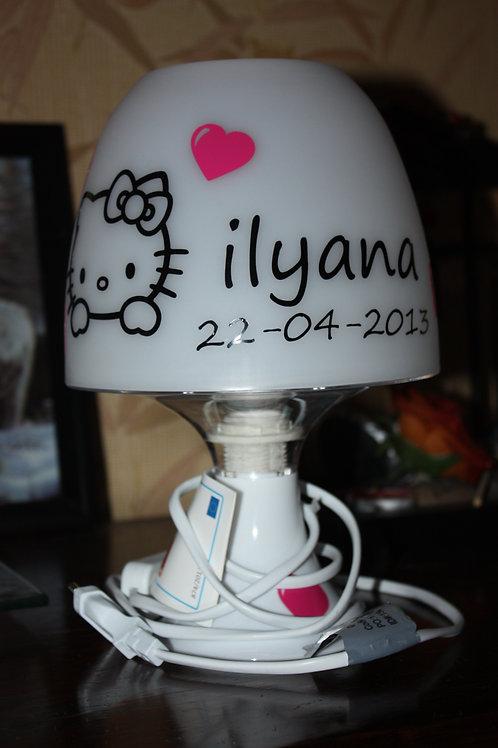 Lampe Personnalisée - Thème Hello Kitty