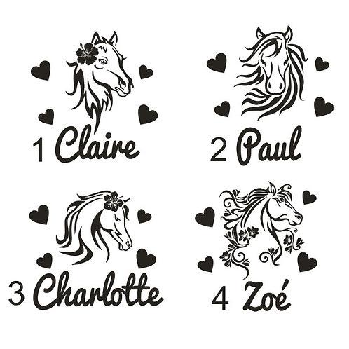 Sticker Chambre - Thème Tête de Cheval