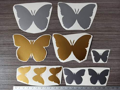 Lot 10 Stickers Papillons