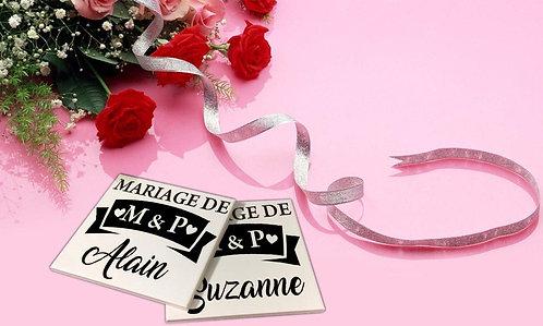 Sticker pour sous-verres Mariage 1