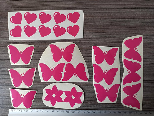 Lot 24 Stickers Roses