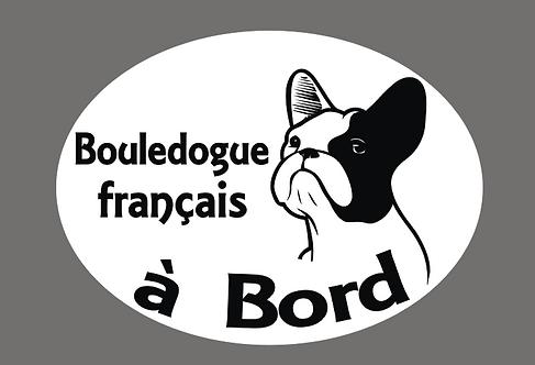 Sticker Bouledogue français à Bord - Personnalisation possible
