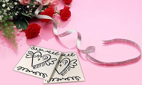 Sticker pour sous-verres Mariage 3