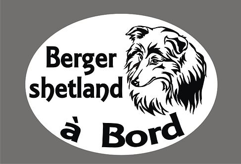 Berger Shetland à Bord - Personnalisation possible