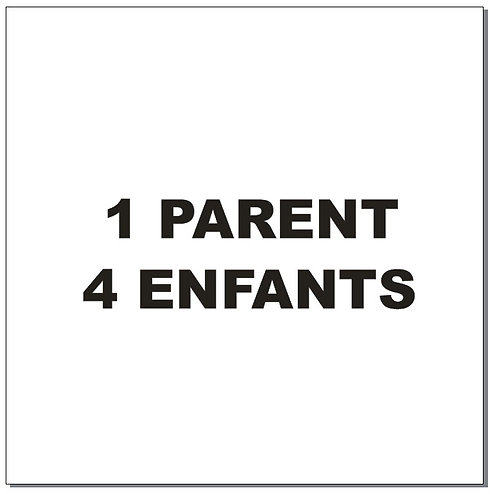 Sticker BAL Famille: 1 parent, 4 enfants