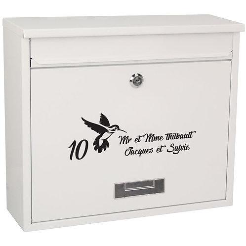 Sticker Boîte aux lettres Thème Oiseaux 3