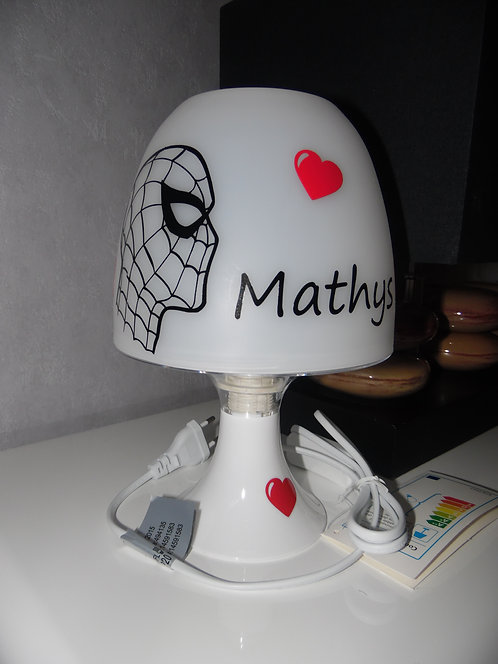 Lampe Personnalisée - Thème Spiderman