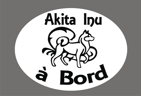 Akita Inu à Bord - Personnalisation possible