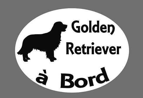 Golden Retriever à Bord - Personnalisation possible