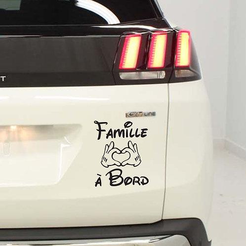 Sticker Famille à Bord Mains de Mickey