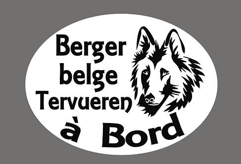 Berger Belge Tervuren à Bord - Personnalisation possible