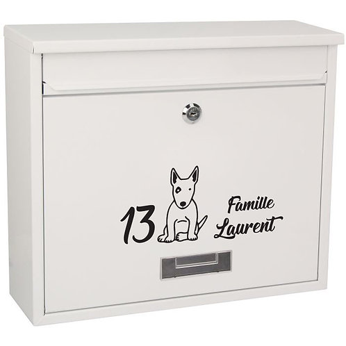 Sticker Boîte aux lettres Bull Terrier