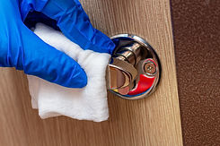 cleaning-disinfecting-wiping-the-chrome-