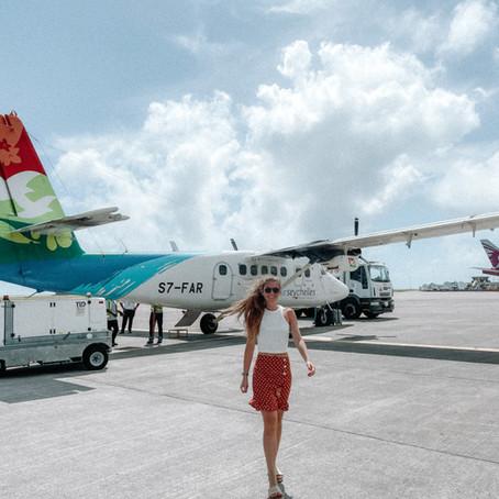 Flight between Mahe and Praslin - Seychelles