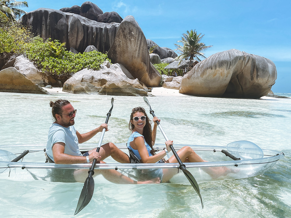 Crystalwater kayaks at Anse Source D'Argent