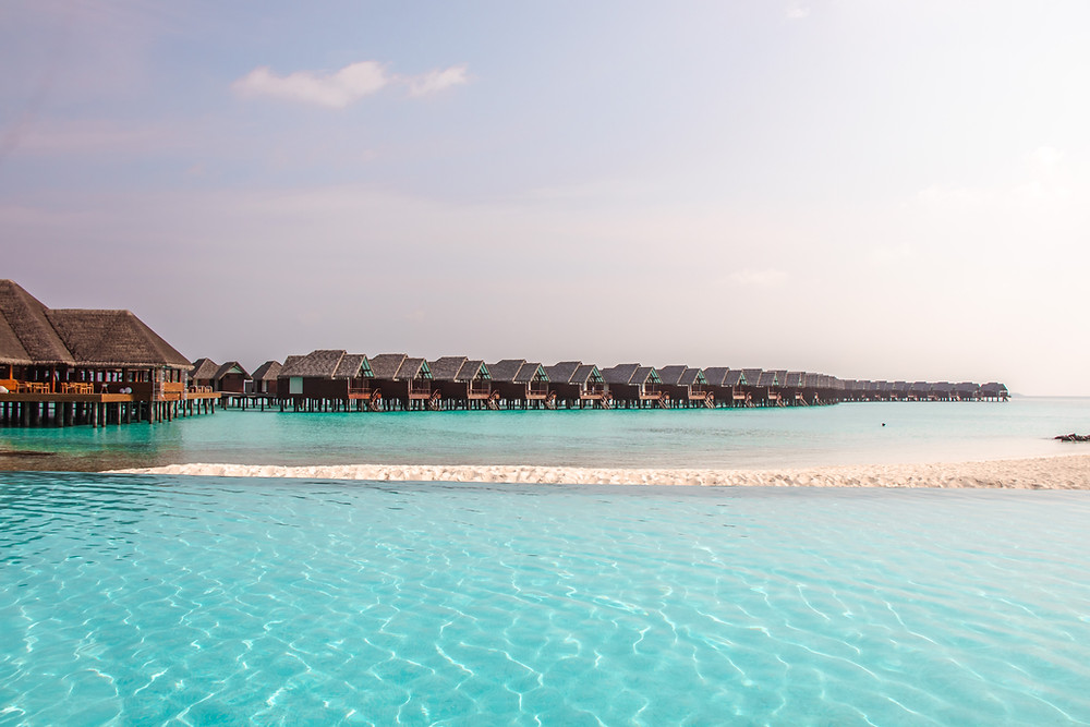 Maldives overwater villas at Heritance Aarah