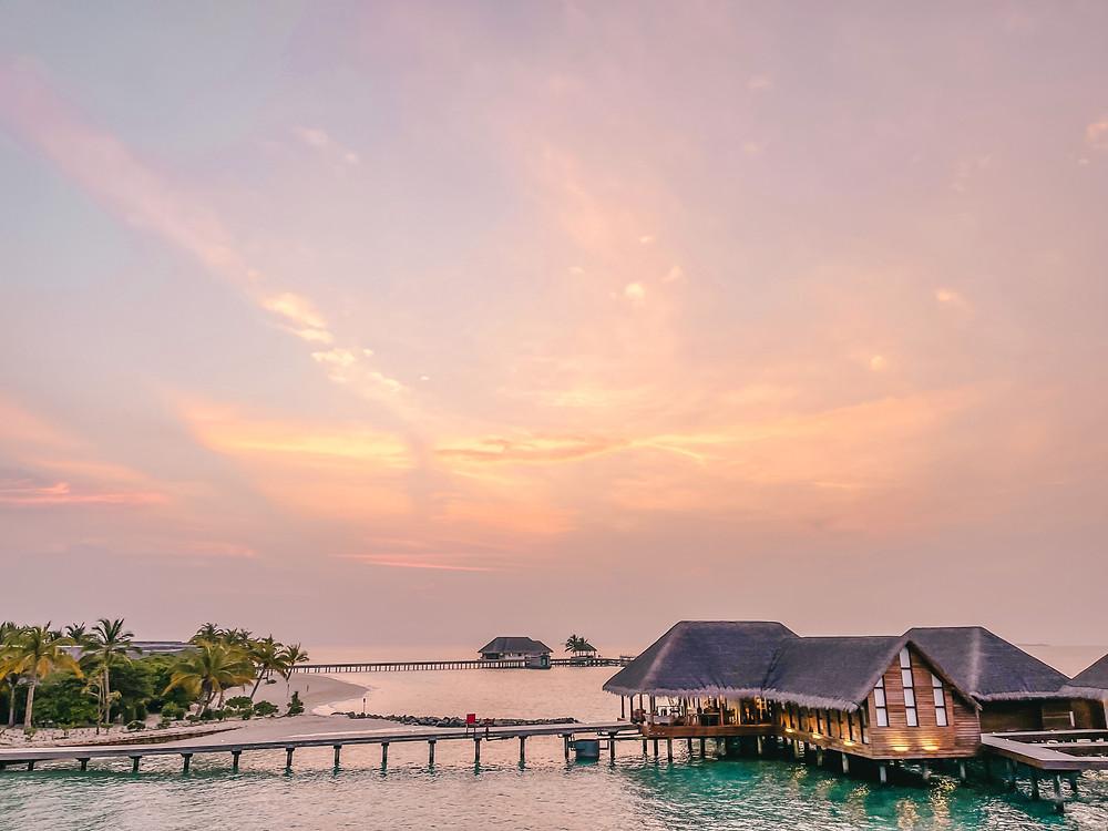 Maldives sunset at Heritance Aarah