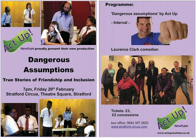 Act Up will perform 'Dangerous Assumptions'