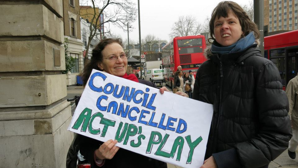 Act Up's play cancelled
