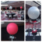Giant balloon table decorations