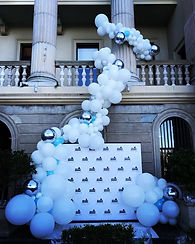 Balloon Garland Media Wall at Customs House Belvedere vodka Igloo bar