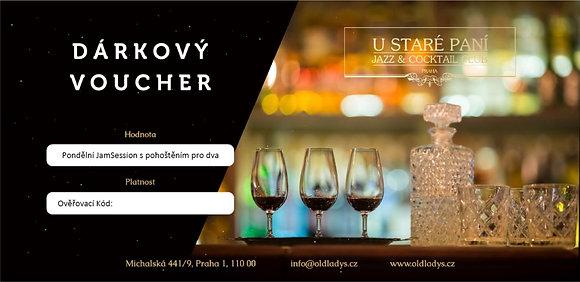 Dárkový Voucher pro 2 - Pondělní JamSession Libora Šmoldase s tapas a koktejly
