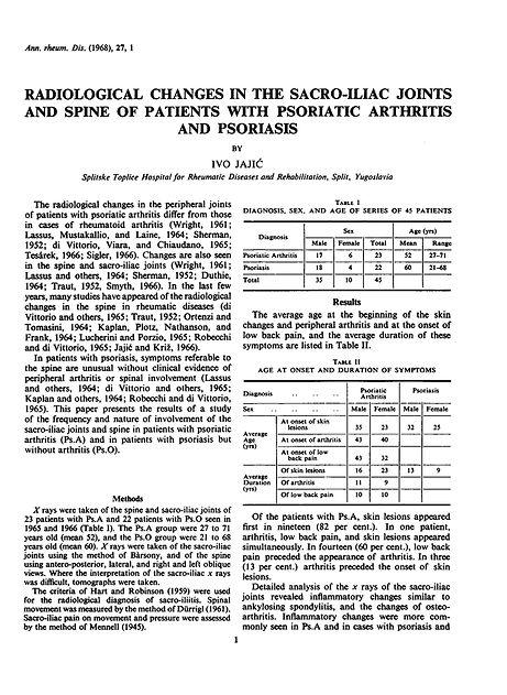 radiological changes in the sacro-iliac joints ivo jajic