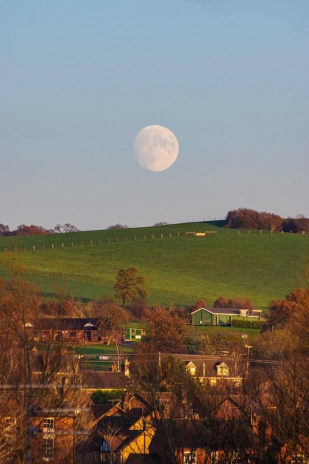 Moonshine over Stone Staffordshire