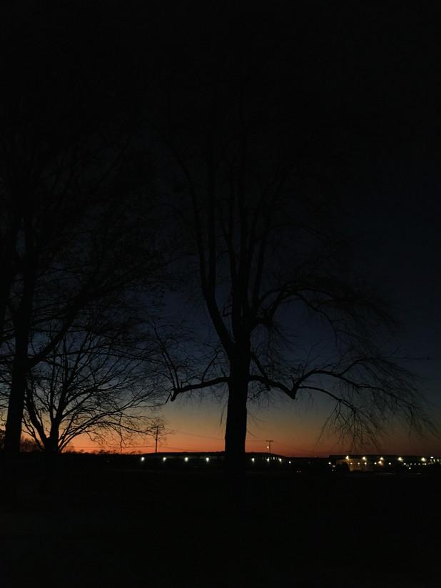 Brisk, silent sunset