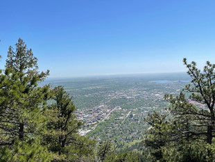 Picture from the Sky (Actually from the peak of one of the Rockies)