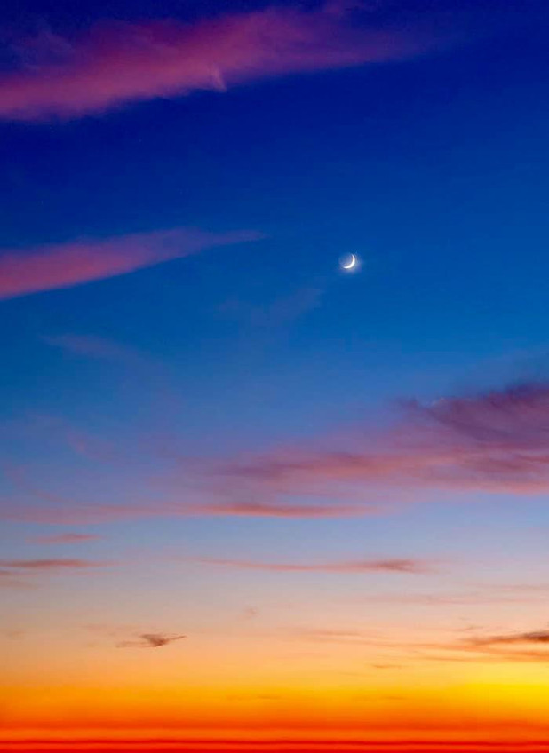 Just want share this photo of the New Moon from the other night.