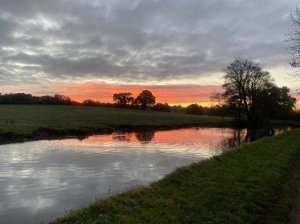 This morning's sunrise run. Stone, Staffordshire.
