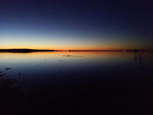 sunrise with venus in the lower left