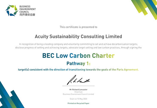 BEC LCC Certificate_Acuity Sustainabilit