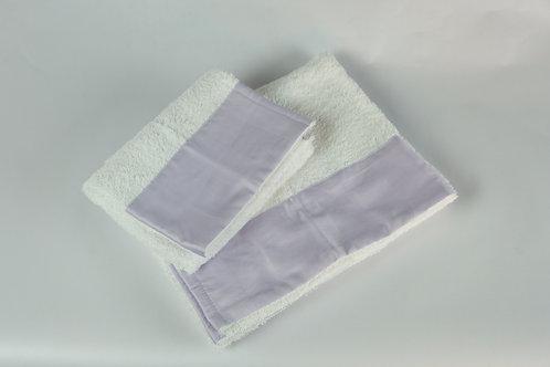Set viso e bidet asciugamani con bordo