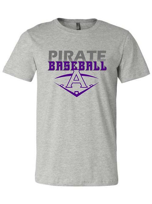 Pirate Baseball Grey Tshirt