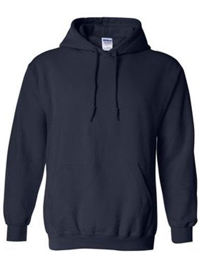 Gildan Navy Brave Like Benny Hooded Sweatshirt Heavyblend