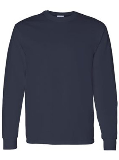 Gildan Navy Brave Like Benny Long Sleeve Tshirt