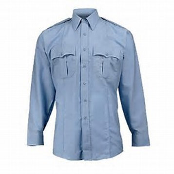 Elbeco Paragon Long Sleeve Uniform Shirt (Blue or White) with patches