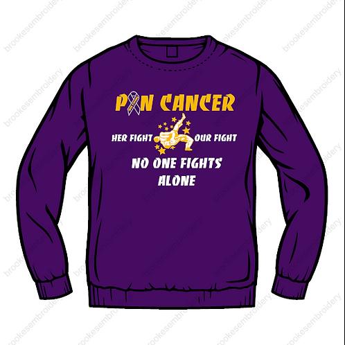 Pin Cancer Crewneck Sweatshirt