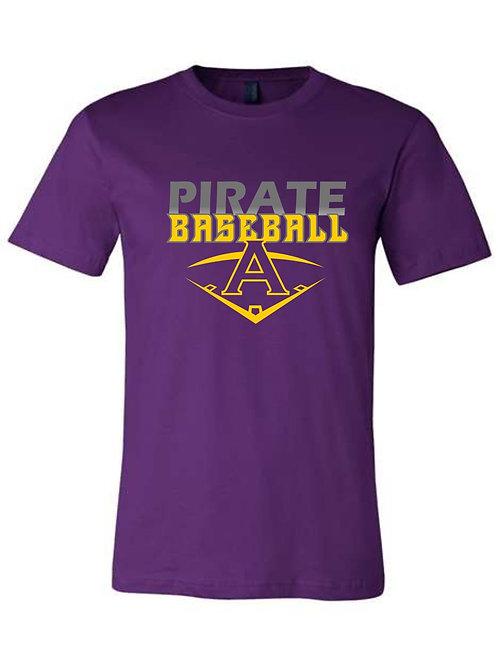 Pirate Baseball Purple Tshirt