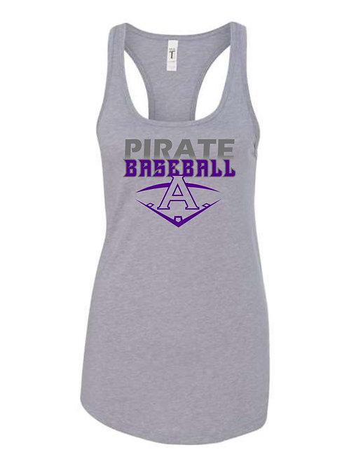 Pirate Baseball Grey Women's Tanktop