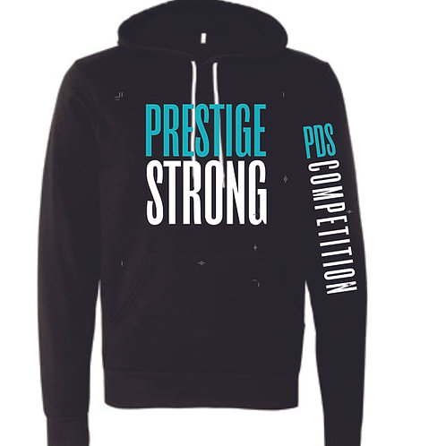 Bella Canvas Prestige Strong Block Hooded Sweatshirt Optional Sleeve Printing
