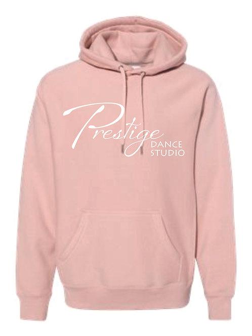 Dusty Pink Hooded Sweatshirt with Classic Prestige Logo