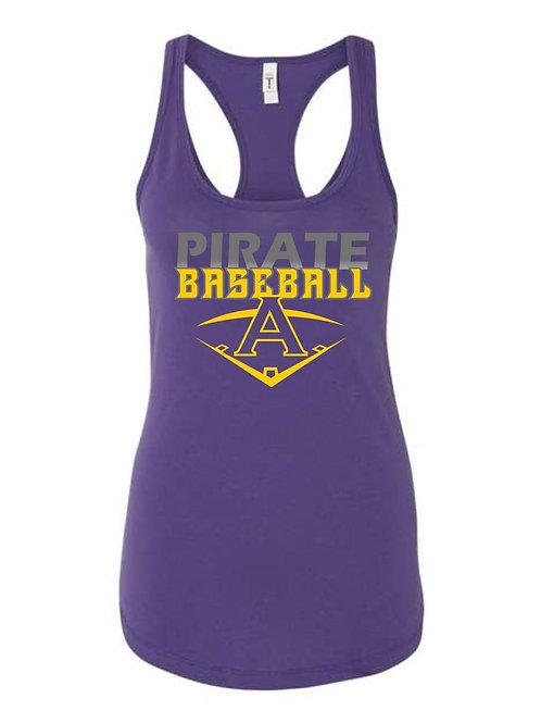 Pirate Baseball Purple Women's Tanktop