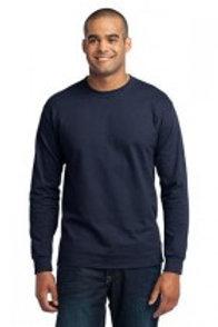 Port&Company Core Blend Navy Long Sleeve Shirt